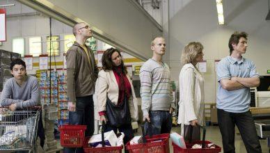 Fila supermercado